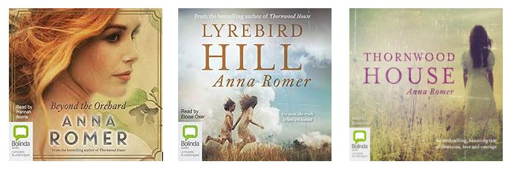 audio snippets of books by Anna Romer, Australian Author